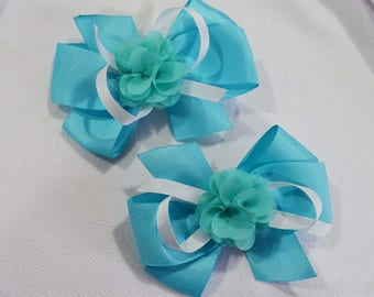 Teal Baby Bow Pair