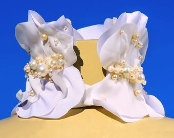 Jet Set Collar Necklace Elegance necklace Wedding necklace Pearls necklace