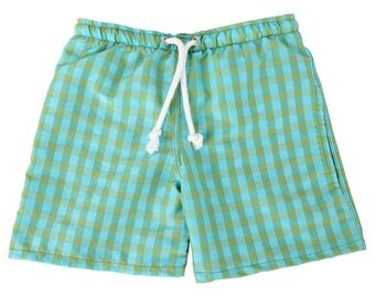 Puuper bath Hort Leander junior blue green checkered