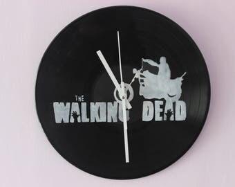 The Walking Dead Vinyl Record Wall Clock Handmade