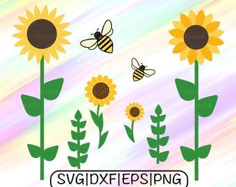 Sunflower SVG File, Sunflower Cricut, Sunflower Clipart, Sunflower Cut File, Sunflower Png, Helianthus SVG File, Helianthus Cricut SVG