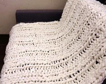 Gigantic Knitting Fleece Blanket