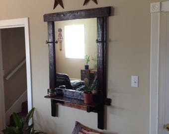 Rustic Hand Crafted Reclaimed Wood Mirror Frame