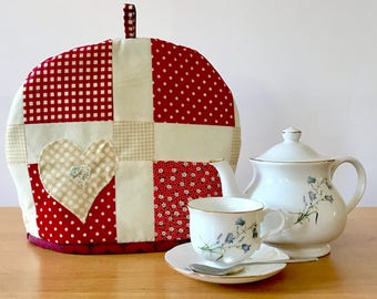 Handmade patchwork quilted tea cosy. Insulated and lined, free shipping