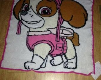 Paw patrol Skye crocheted blanket