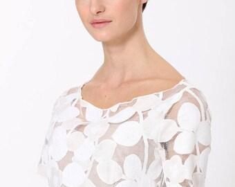 Lace Midi Dress-White