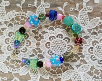 Multi Colored Bead Bracelet