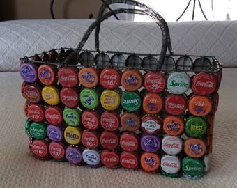 Pop Bottle Cap Basket
