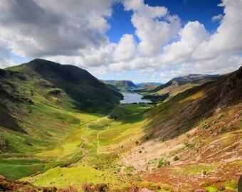 Fine Art or Canvas Print - Buttermere Lake & Crummock Water, Lake District