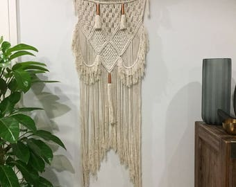 Large macramé wall hanging  100% cotton