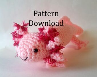 Axolotl Amigurumi Crochet Pattern