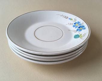 Four antique plates S.C. Richard Italy 1873-1896 porcelain handpainted vintage china fruit plates