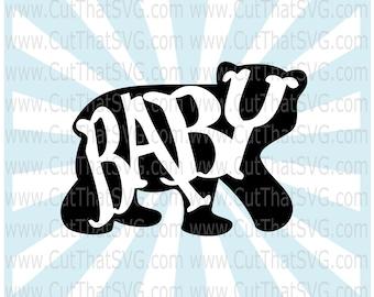 Baby Bear SVG cut file