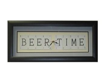 Beer Time Word Art Clock