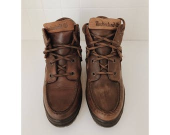 RARE Vintage women's Timberland boots US 6.5 // women's leather ankle boots // brown leather boots // women's hiking boots // gifts for her