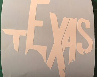 Texas window decal