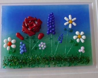 Garden Stunning Fused Glass Picture