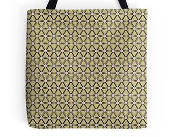 Gold Tote Bag, Geometric tote bag, market shopper, tote bag, geometric print, shopping bag, tote shopper, market bag, gold geometric Bag