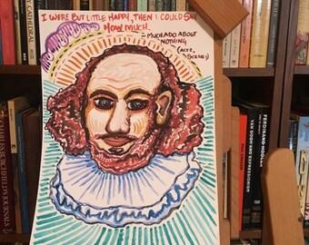 William Shakespeare Watercolor