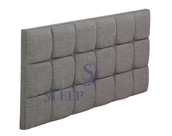 4FT6 Double Oslo Upholstered Headboard - Choose Any Fabric, Also Available In Various Heights