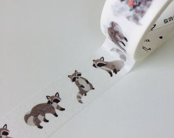 Little Racoon Wide Washi Tape