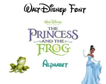 princess and the frog,alphabet disney,font trolls svg,cricut,silhouette,digital,svg,png,eps,ai,dxf,letters monogram,birthday,invitation,logo