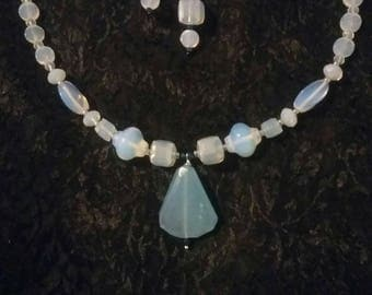 Opalite Necklace and Earrings