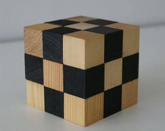 Wooden cube puzzle cube, logic, logic game