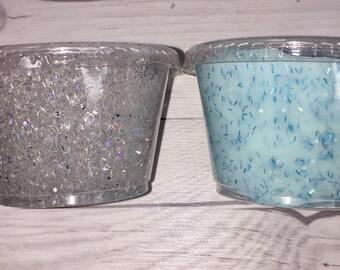 HOLOGRAPHIC GLITTER SLIME - Glitter Slime - Cheap Slime - Clear Slime