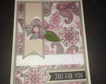 "Greeting Card, ""Just For You"""