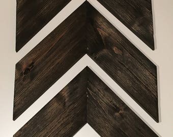 Large wooden chevron arrows, set of 3 chevron wood arrows, wooden arrows, wooden arrow decor, rustic arrow decor, wooden arrow wall art