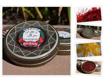 """Pure Persian Saffron """"Sargol - coupe"""" Best Quality 100% Organic-0.353oz (10gr)"""