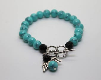 Earth Blue Beads Bracelet