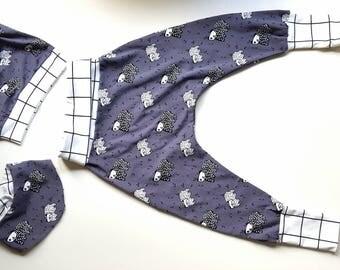 Set trousers + Hat + shawl Gr. 80