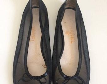 Chanel vintage ballet flats