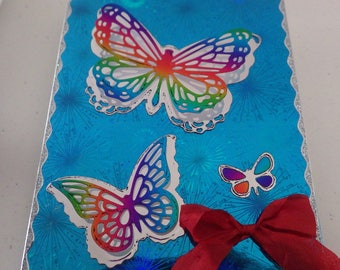 Handmade Butterfly Birthday Card  Free Shipping