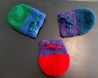 Small Crochet Pouch, Pick Your Color, Custom Option Available