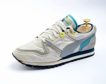 vintage PUMA 'Elan' Running Shoes / womens size US 6.5, UK 5, Fr 38 / neon 80s-90s  / sneakers / trainers