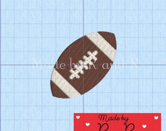 """Small Football Embroidery Design 2.5"""" x 1.75""""  