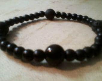 Black Bead Black Onyx Men's Bracelet
