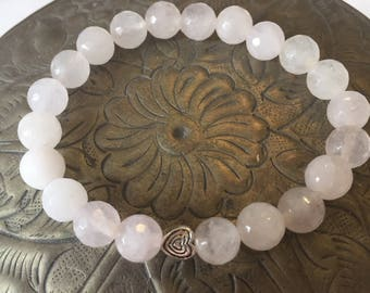 Beautiful Rose Quartz Grief Bead Bracelet