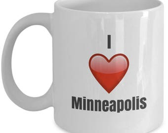 I Love Minneapolis, Minneapolis Mug, Minneapolis Coffee Mug, Minneapolis Gifts, Minneapolis Lover Gift, Funny Coffee mug