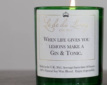 Luxury Gin And Tonic Candle