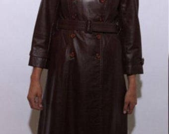 Vintage 70's oxblood leather coat.
