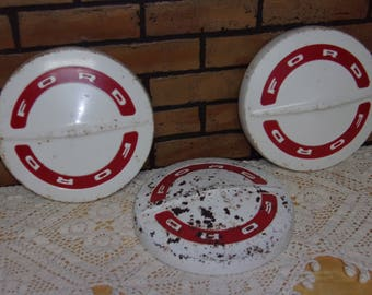 3 Ford 1930's Vintage Hubcaps