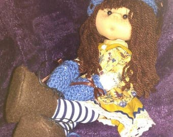 Original type soft, exclusive and unique fabric/cloth doll there is no equal, completely handmade