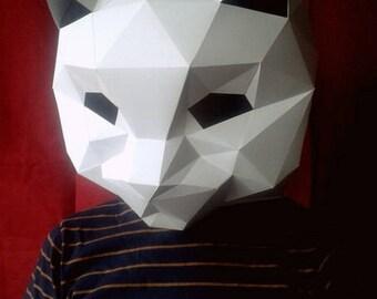 DIY Papercraft Cat Mask