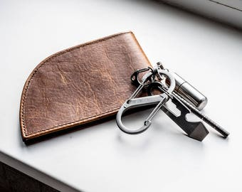 Rogue Front Pocket Wallet - Six Slot in Bison