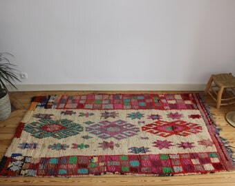 Lovely azilal berber rug handmade with lots of love