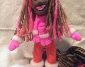 Needle felted doll, soft sculpture doll,collector doll, fiber art, wool art, needle felting, felting, art doll, hand felted doll, ooak doll